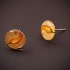 Náušnice pecky Chilli -  Jalapeno žluté