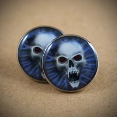 Velké náušnice pecky Metal -  Vampire