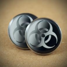 Velké náušnice pecky Metal -  Biohazard