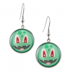 Kulaté náušnice -  Pokémon - Bulbasaur