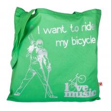 Plátěná taška -  I want to ride my bicycle