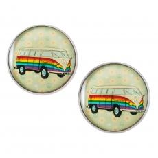 Velké náušnice pecky -  Hippie Car