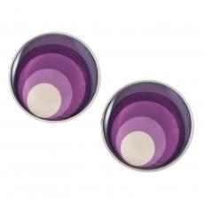 Velké náušnice pecky -  Circles fialová