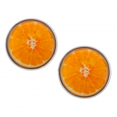 Velké náušnice pecky - Raw - Pomeranč