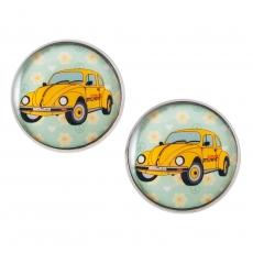 Velké náušnice pecky -  Volkswagen brouk