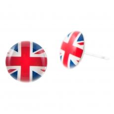 Náušnice pecky Svět - Velká Británie