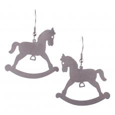 Ocelové náušnice -  Houpací kůň