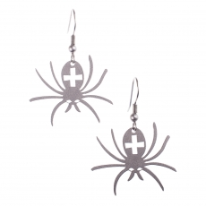 Ocelové náušnice - Pavouci