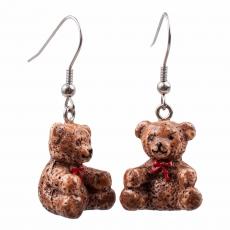 3D náušnice -  Medvídek