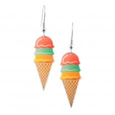 Náušnice -  Ice - Kopečková zmrzlina 2