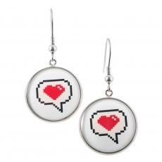 Kulaté náušnice - Love - Comics Heart