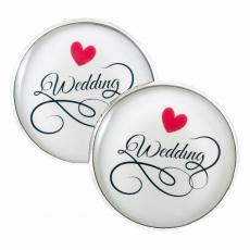 Velké náušnice pecky - Love - Wedding