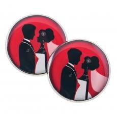 Velké náušnice pecky - Love - Couple