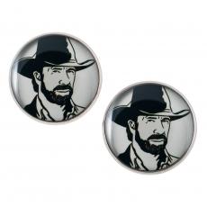 Velké náušnice pecky - Chuck Norris