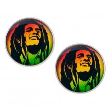 Velké náušnice pecky - Bob Marley
