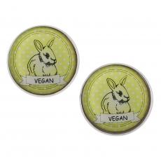 Velké náušnice pecky - zelené Vegan