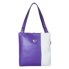 Handbag Diana purple and white