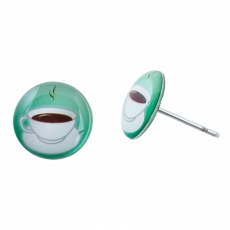 Náušnice pecky -  Káva