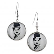 Kulaté náušnice -  Charlie Chaplin