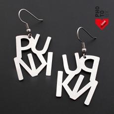 Ocelové náušnice - Punk