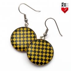 Kulaté Náušnice - SKA Žluté