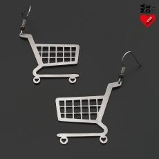 Ocelové náušnice - Nákupní vozík