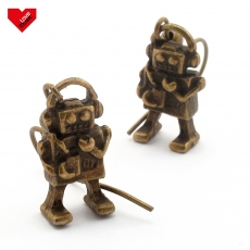 Vintage náušnice -  Roboti