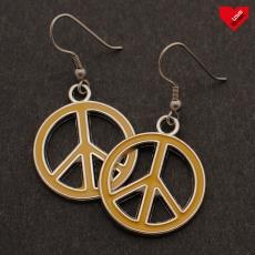 Peace náušnice - Žluté
