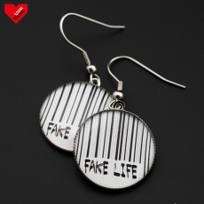 Kulaté náušnice - Fake Life