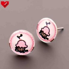 Náušnice pecky -  Sweet - Muffin