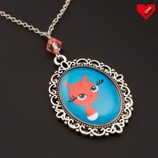 Vintage náhrdelník -  Veverka