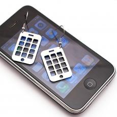Ocelové náušnice -  Mobil