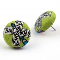 Buttonkové náušnice -  Crossroad
