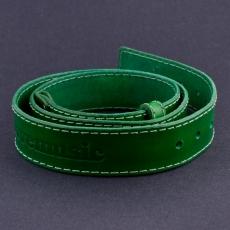 Kožený opaskový popruh -  zelený / 4cm