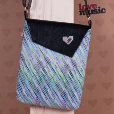 Černá taška Dafné -  Disco zelenofialové