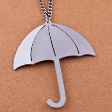 Ocelový náhrdelník - Deštník