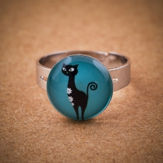 Prstýnek -  Kočka modrá