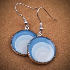 Kulaté náušnice -  Circles modré