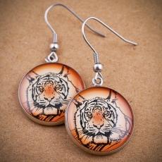 Kulaté náušnice -  Tygr