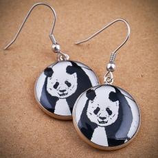 Kulaté náušnice -  Panda