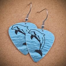 Trsátkové náušnice - Delfín