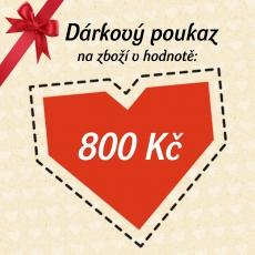 Dárkový poukaz -  800 Kč
