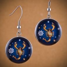 Kulaté náušnice Horoskop - Štír