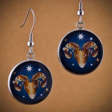 Kulaté náušnice Horoskop - Beran