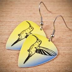 Trsátkové náušnice - Kolibřík