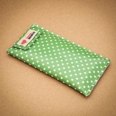 Obal na telefon - Puntík zeleno bílý